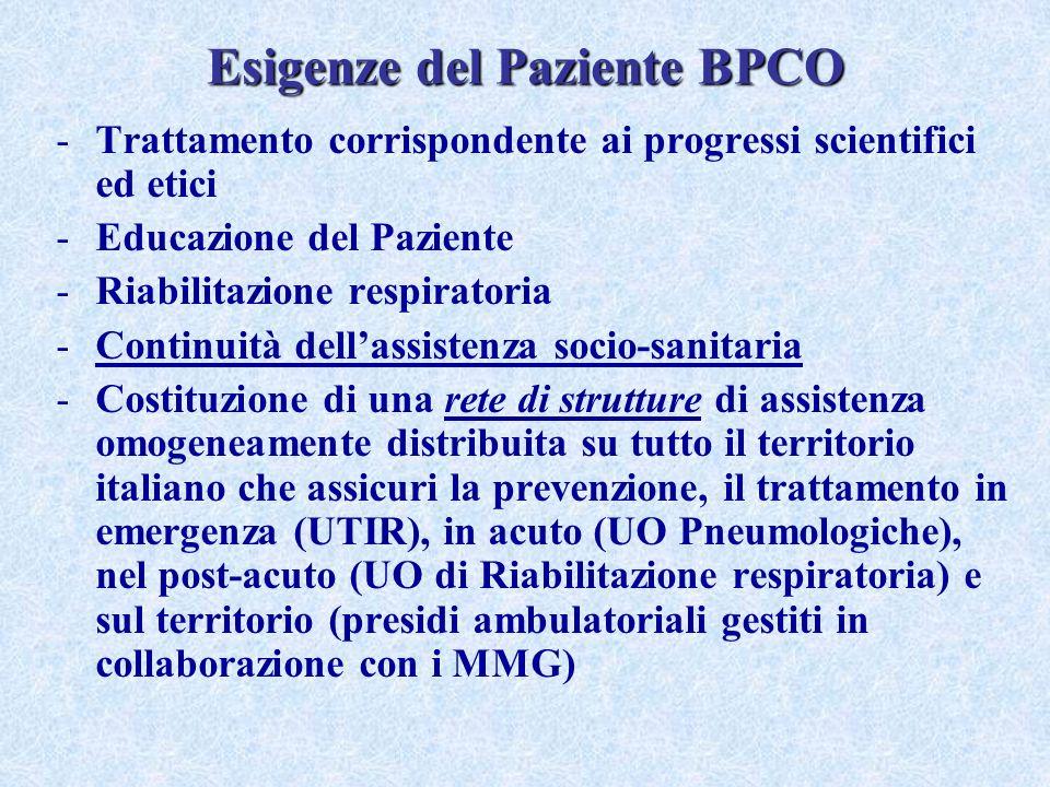 Esigenze del Paziente BPCO