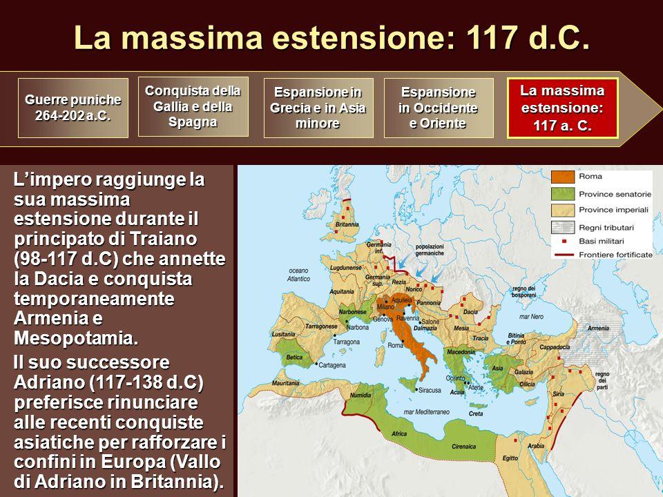 La massima estensione: 117 d.C.