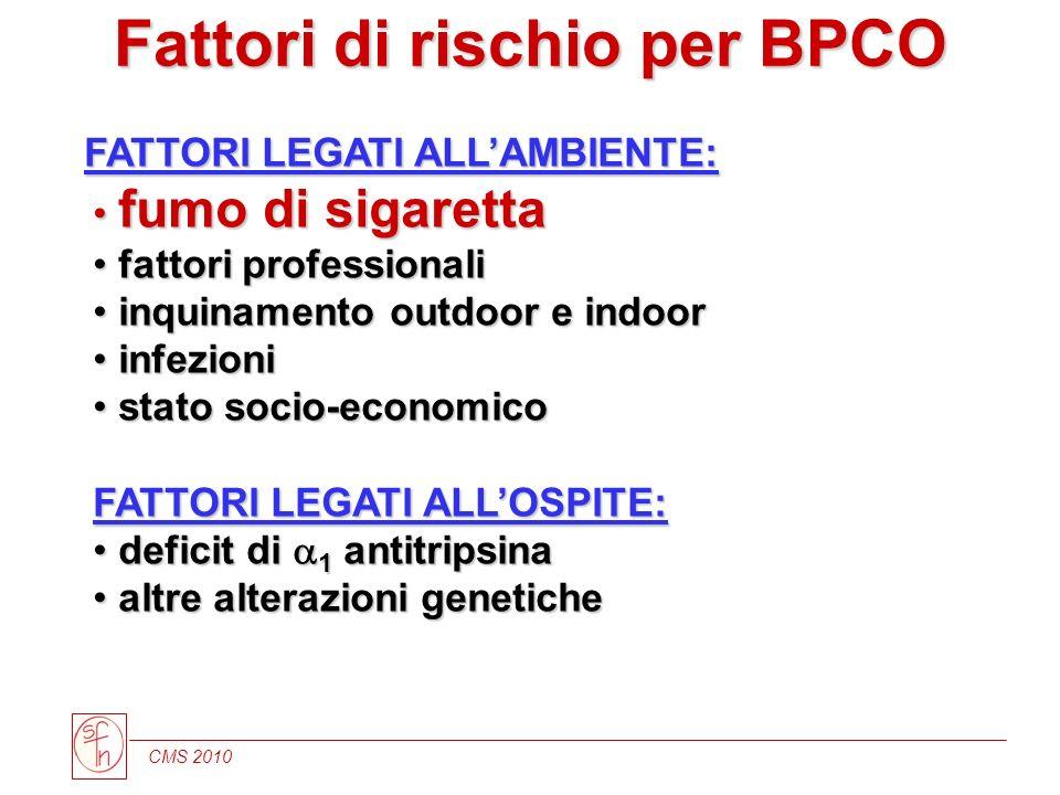 Fattori di rischio per BPCO