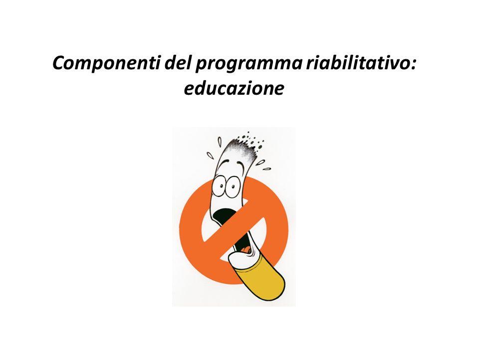 Componenti del programma riabilitativo: educazione