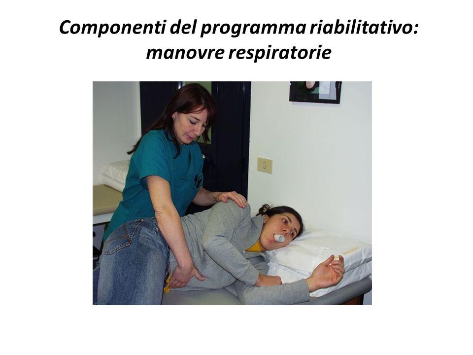 Componenti del programma riabilitativo: manovre respiratorie
