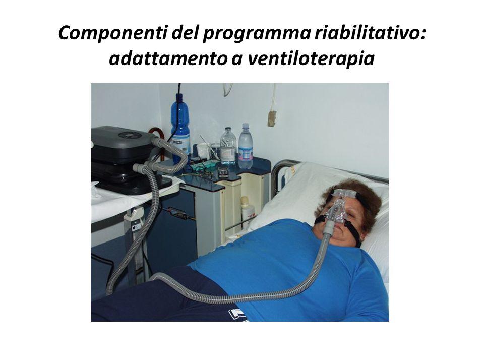 Componenti del programma riabilitativo: adattamento a ventiloterapia