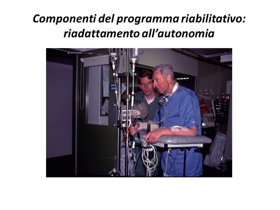 Componenti del programma riabilitativo: riadattamento all'autonomia