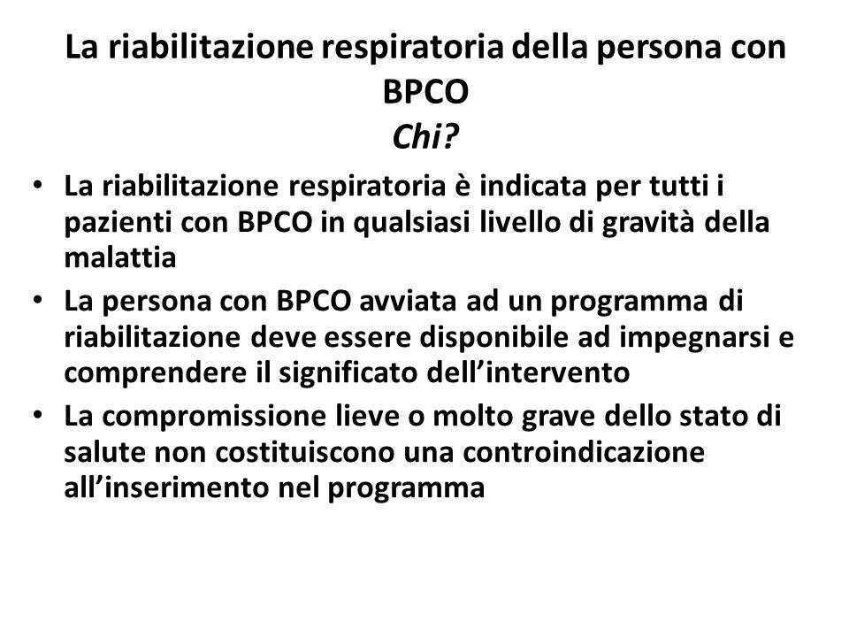 La riabilitazione respiratoria della persona con BPCO Chi