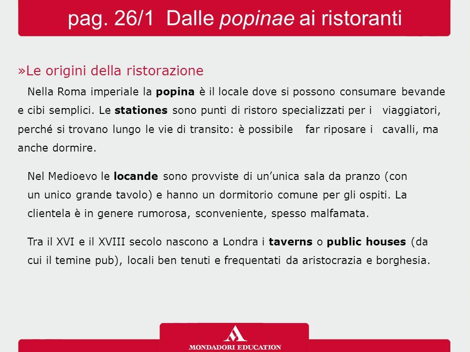 pag. 26/1 Dalle popinae ai ristoranti