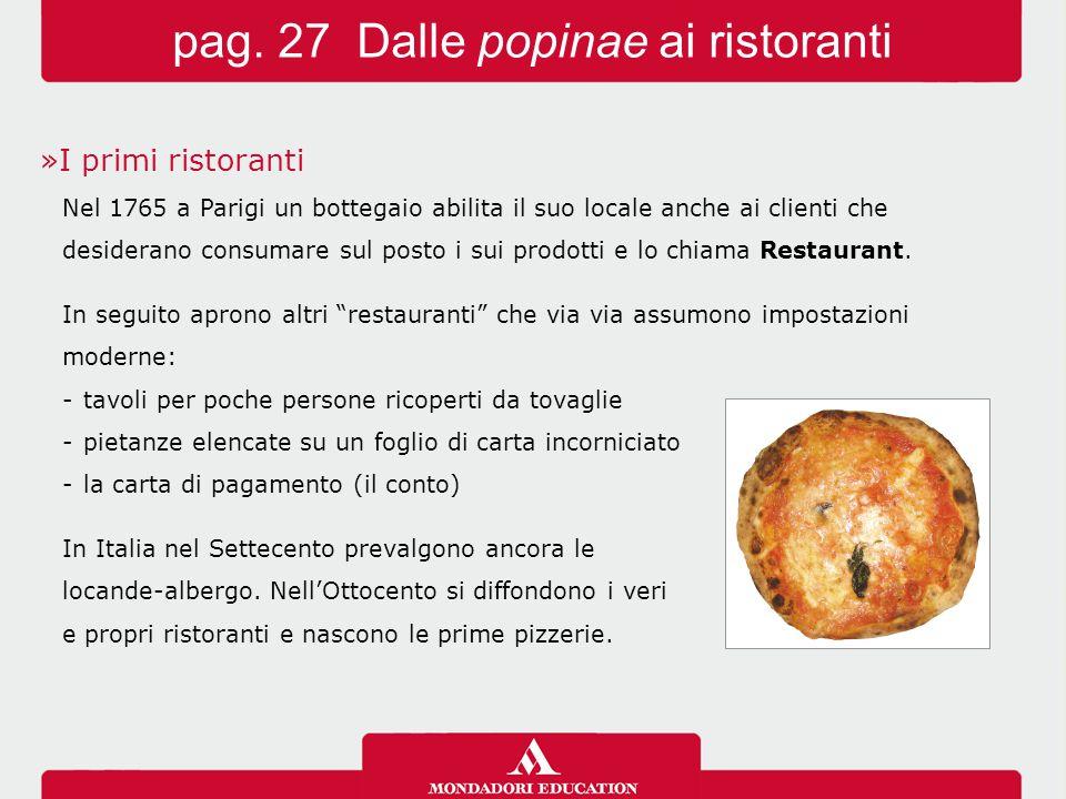pag. 27 Dalle popinae ai ristoranti