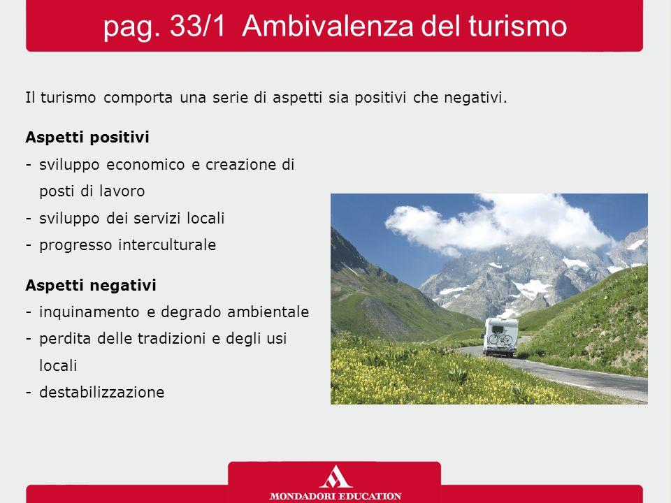 pag. 33/1 Ambivalenza del turismo