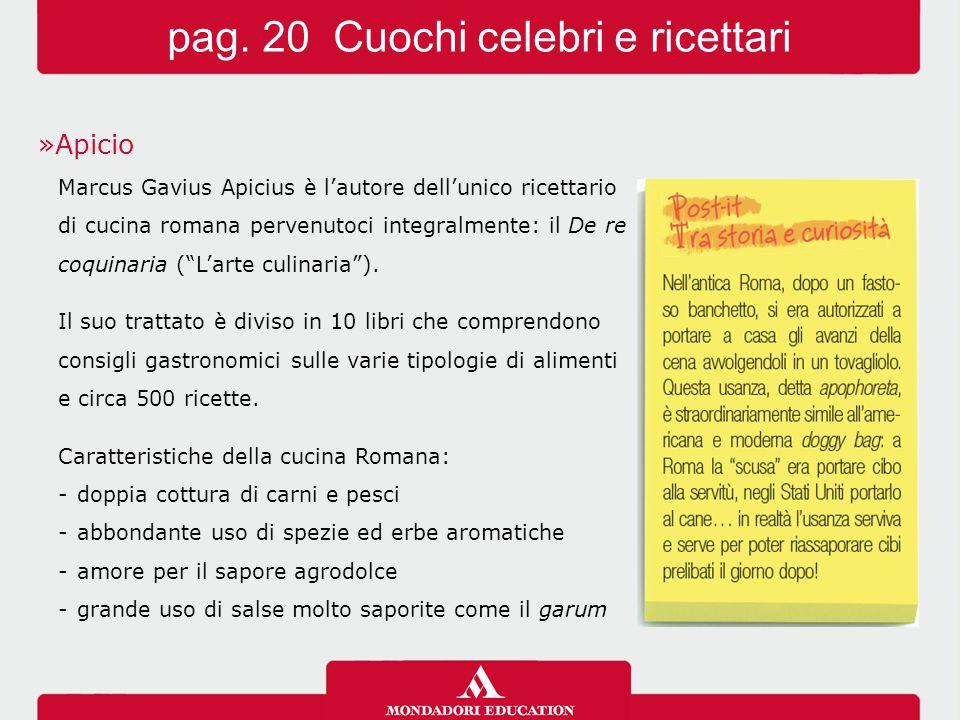 pag. 20 Cuochi celebri e ricettari