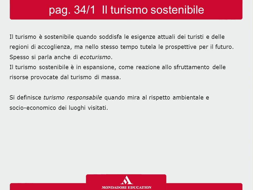 pag. 34/1 Il turismo sostenibile