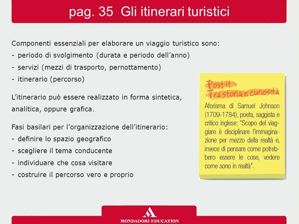 pag. 35 Gli itinerari turistici