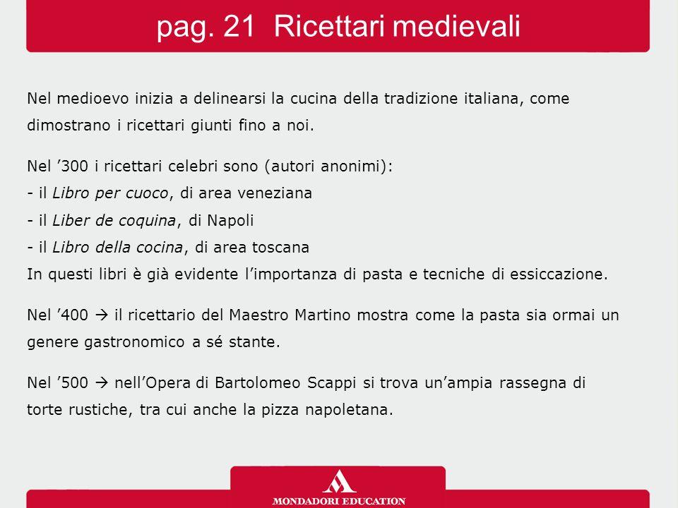 pag. 21 Ricettari medievali