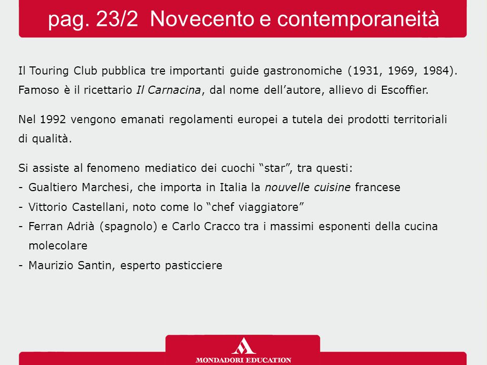 pag. 23/2 Novecento e contemporaneità
