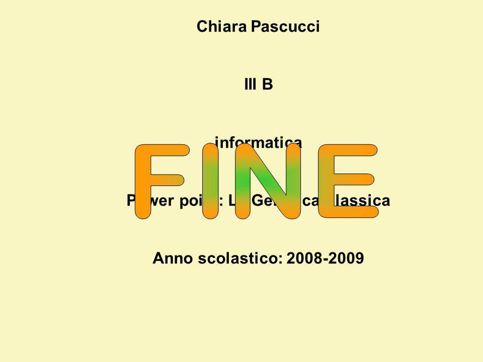 Power point: La Genetica Classica