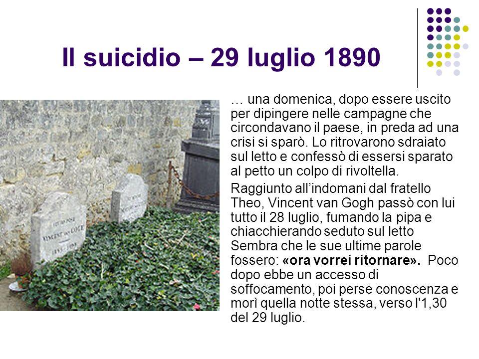 Il suicidio – 29 luglio 1890