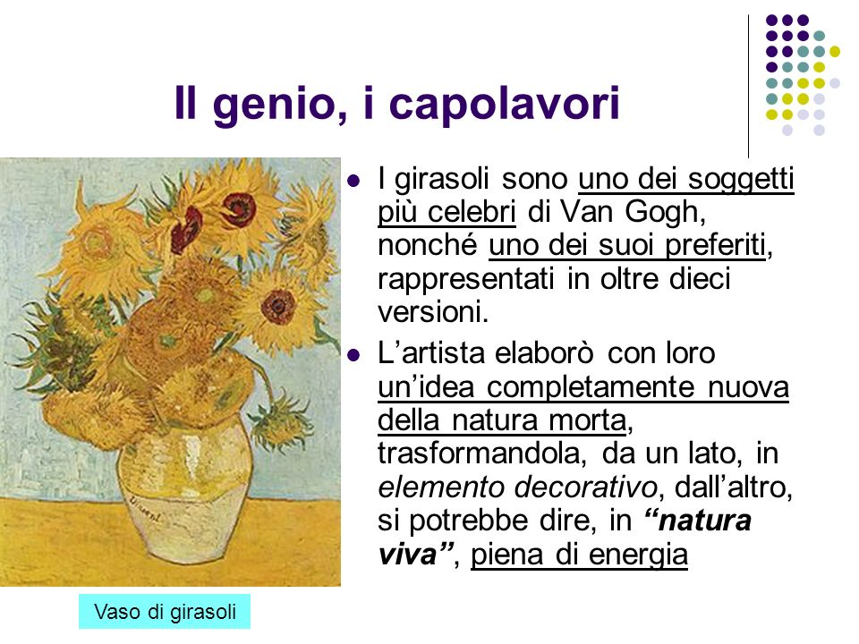 Il genio, i capolavori