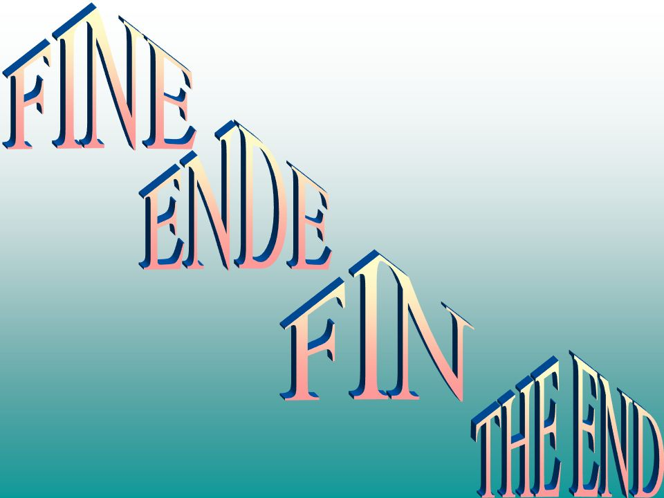 FINE ENDE FIN THE END