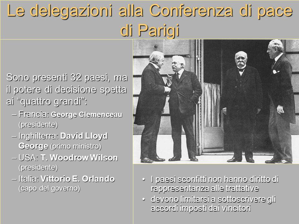 Le delegazioni alla Conferenza di pace di Parigi