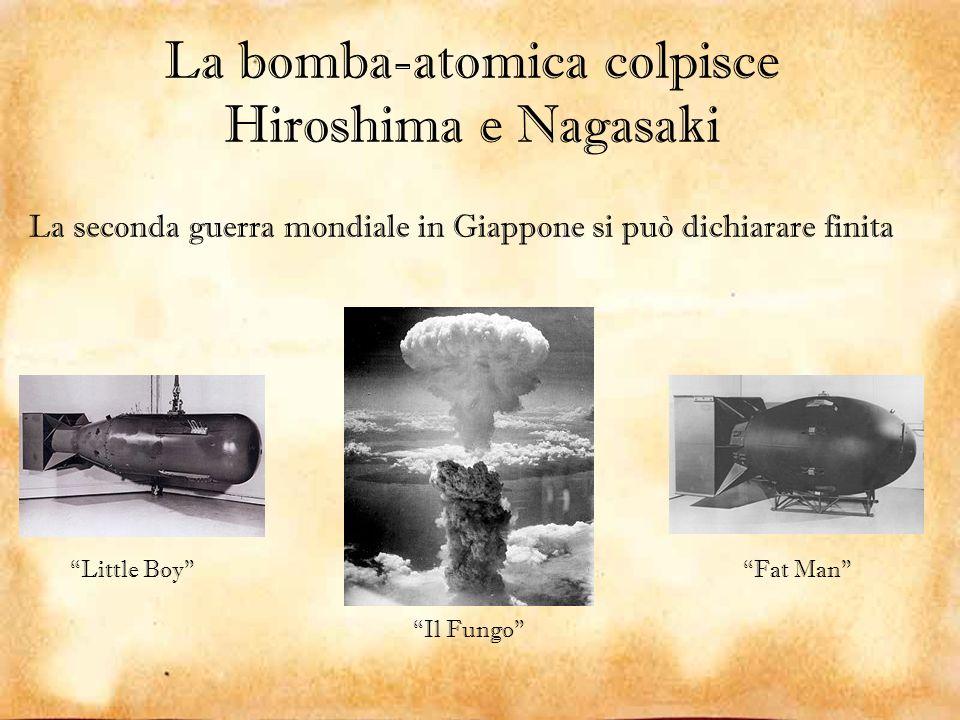 La bomba-atomica colpisce Hiroshima e Nagasaki