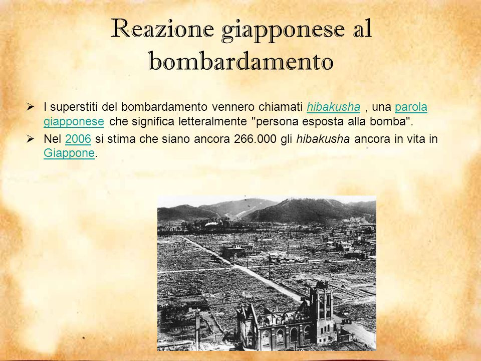 Reazione giapponese al bombardamento