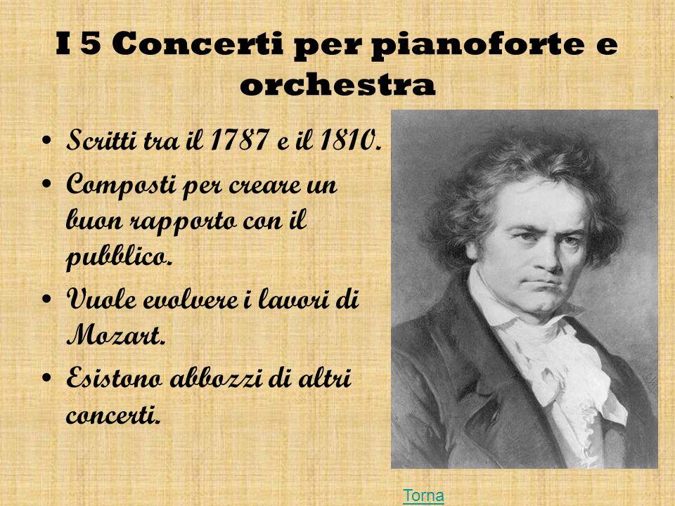 I 5 Concerti per pianoforte e orchestra
