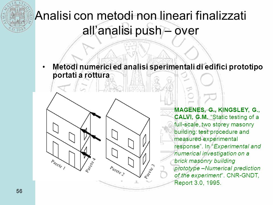 Analisi con metodi non lineari finalizzati all'analisi push – over