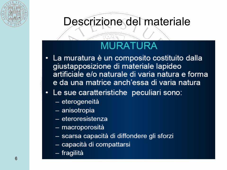 Descrizione del materiale