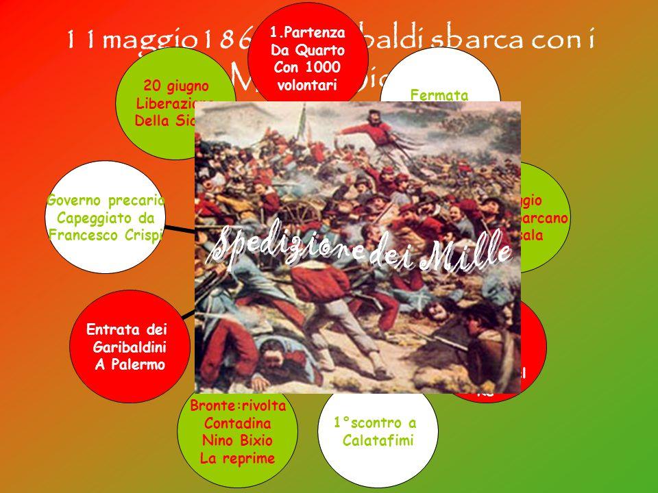 11maggio1860: Garibaldi sbarca con i Mille in Sicilia