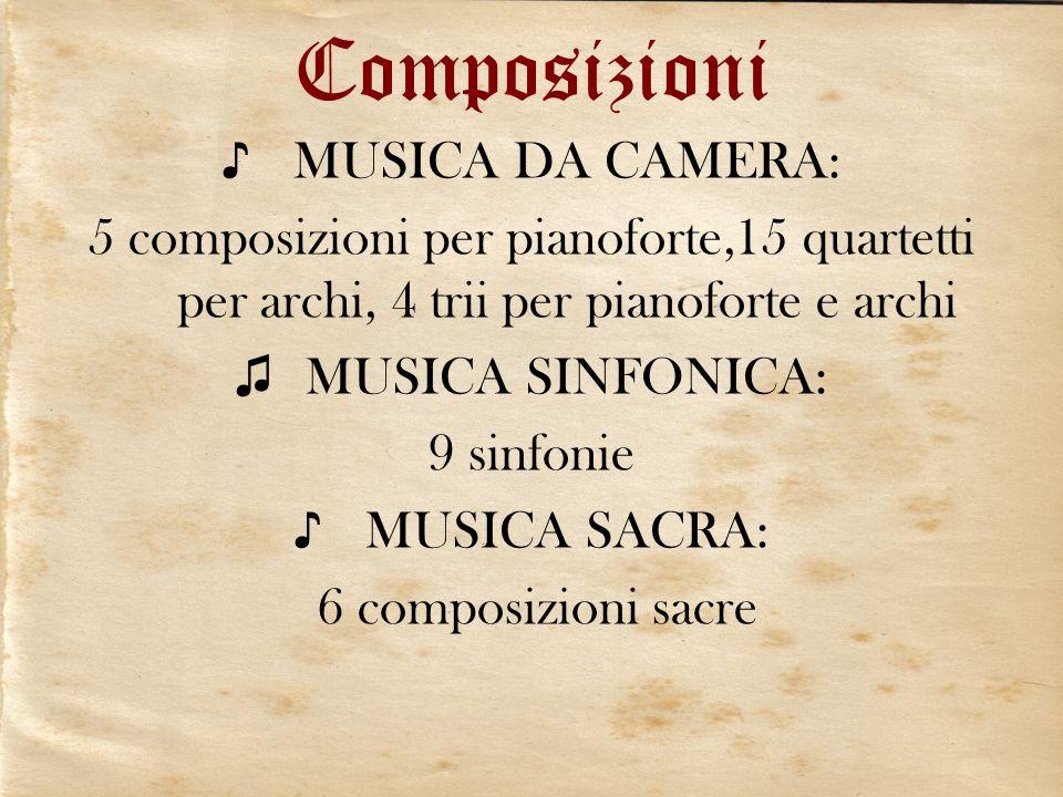 Composizioni MUSICA DA CAMERA: