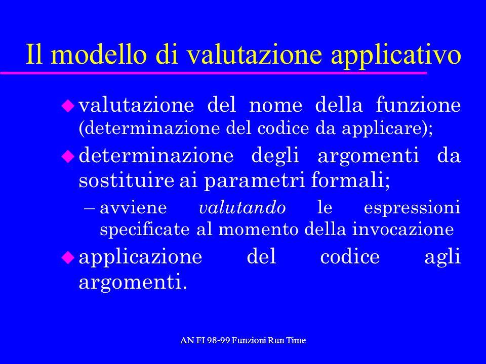 Il modello di valutazione applicativo