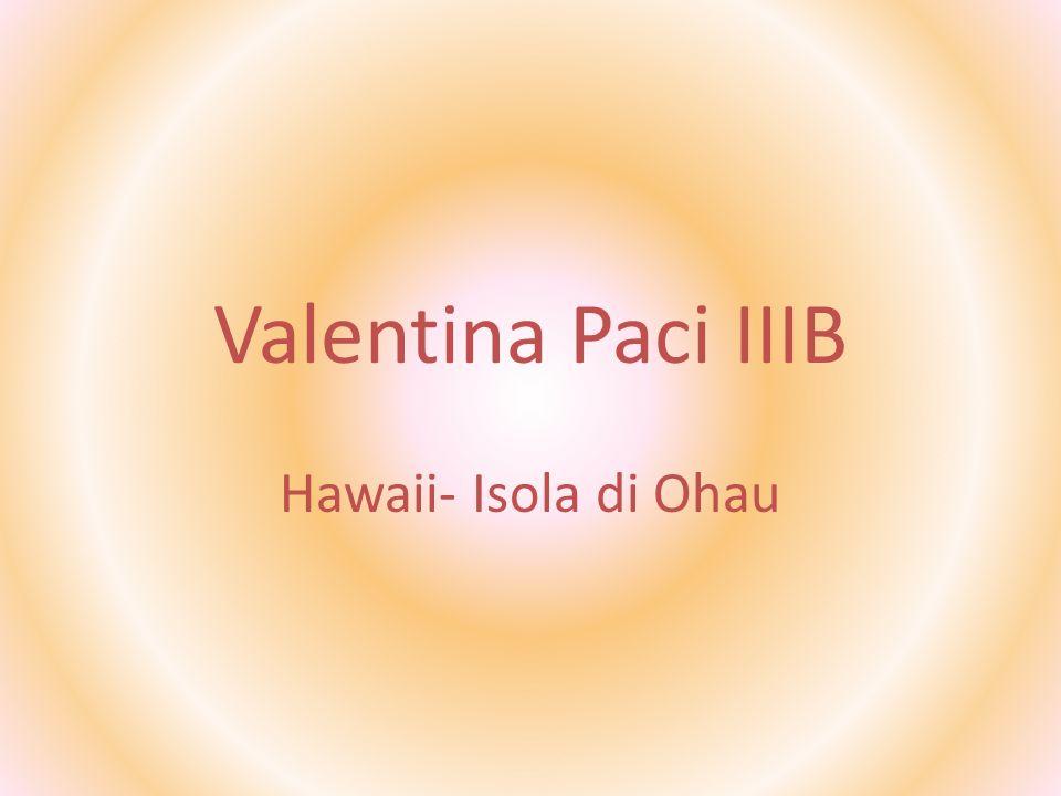Valentina Paci IIIB Hawaii- Isola di Ohau