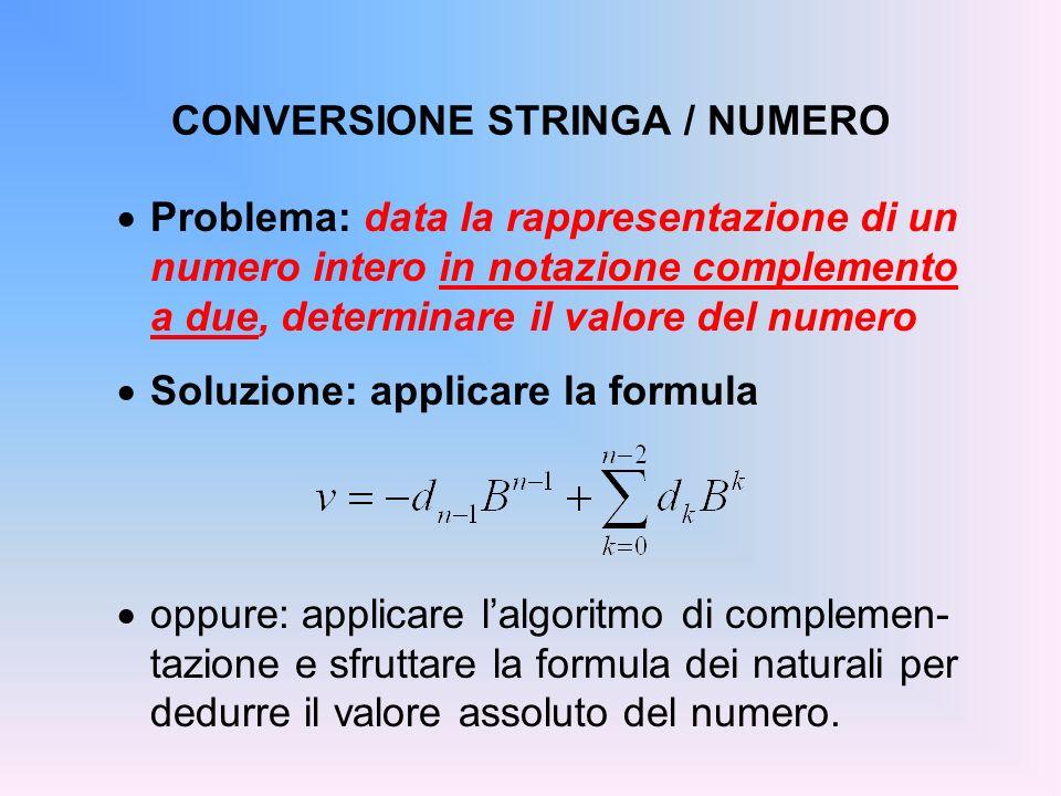 CONVERSIONE STRINGA / NUMERO