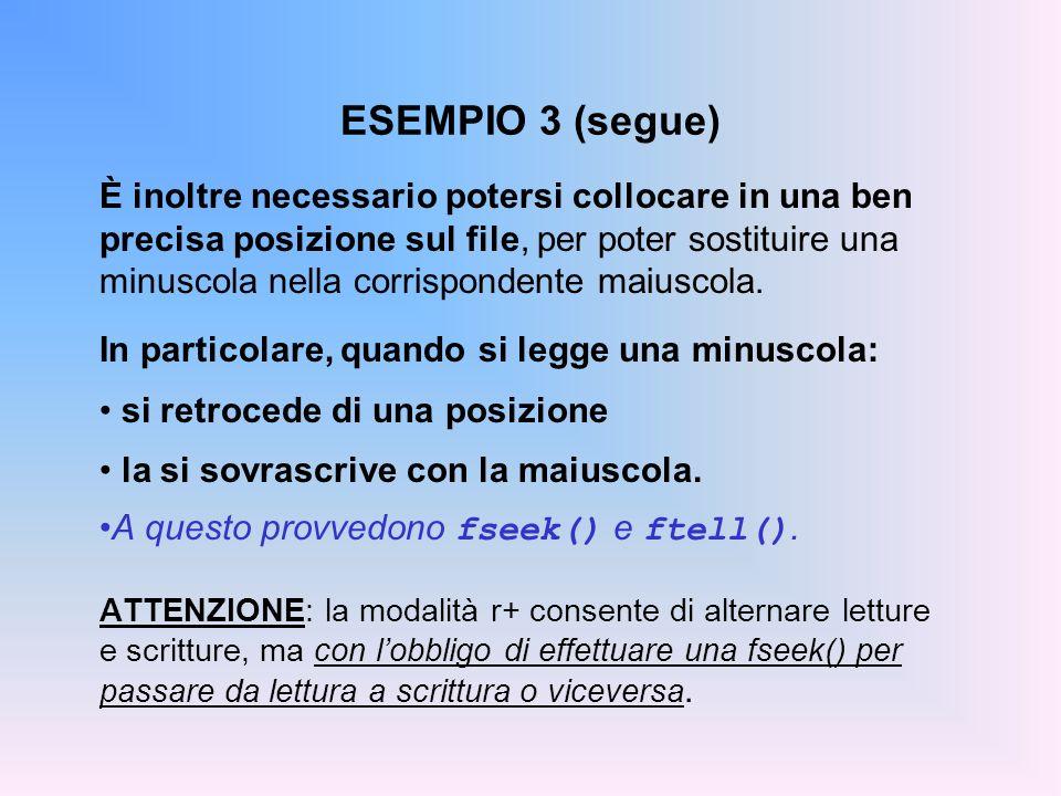ESEMPIO 3 (segue)