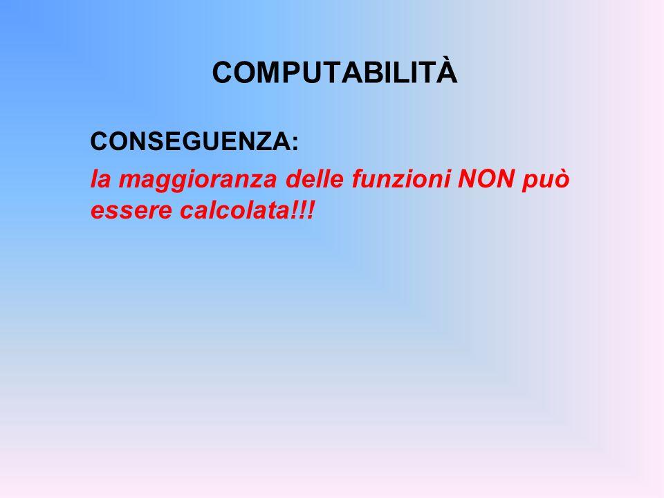 COMPUTABILITÀ CONSEGUENZA: