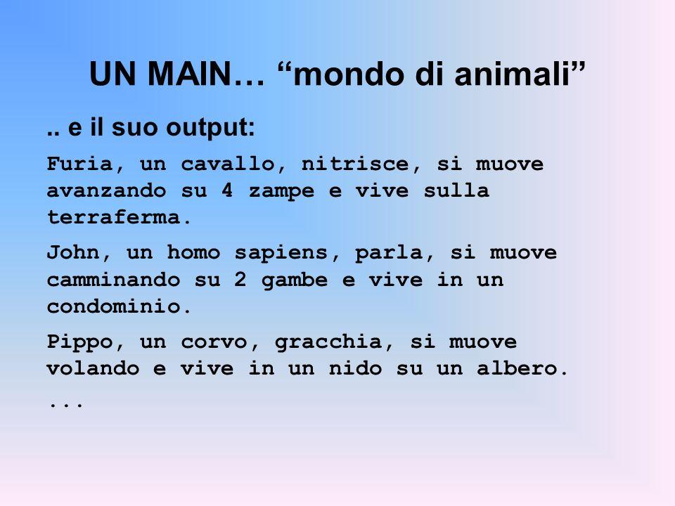 UN MAIN… mondo di animali