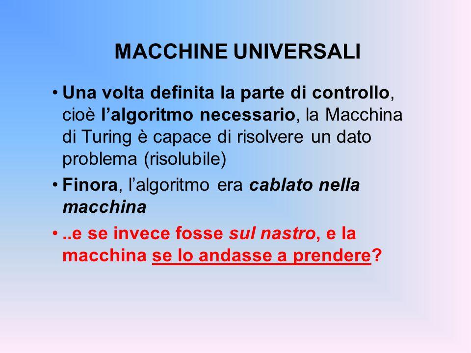 MACCHINE UNIVERSALI