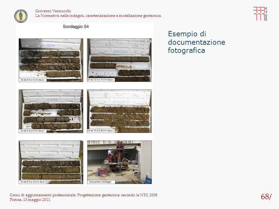 68/ Esempio di documentazione fotografica