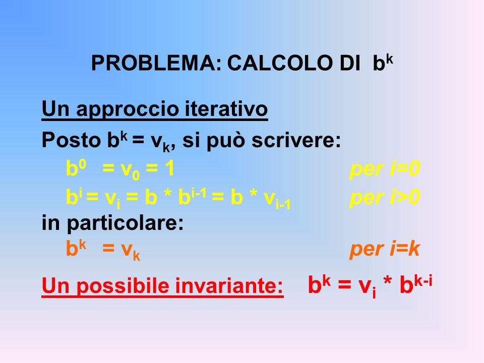 PROBLEMA: CALCOLO DI bk