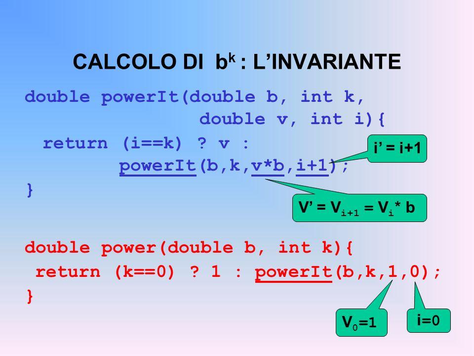 CALCOLO DI bk : L'INVARIANTE