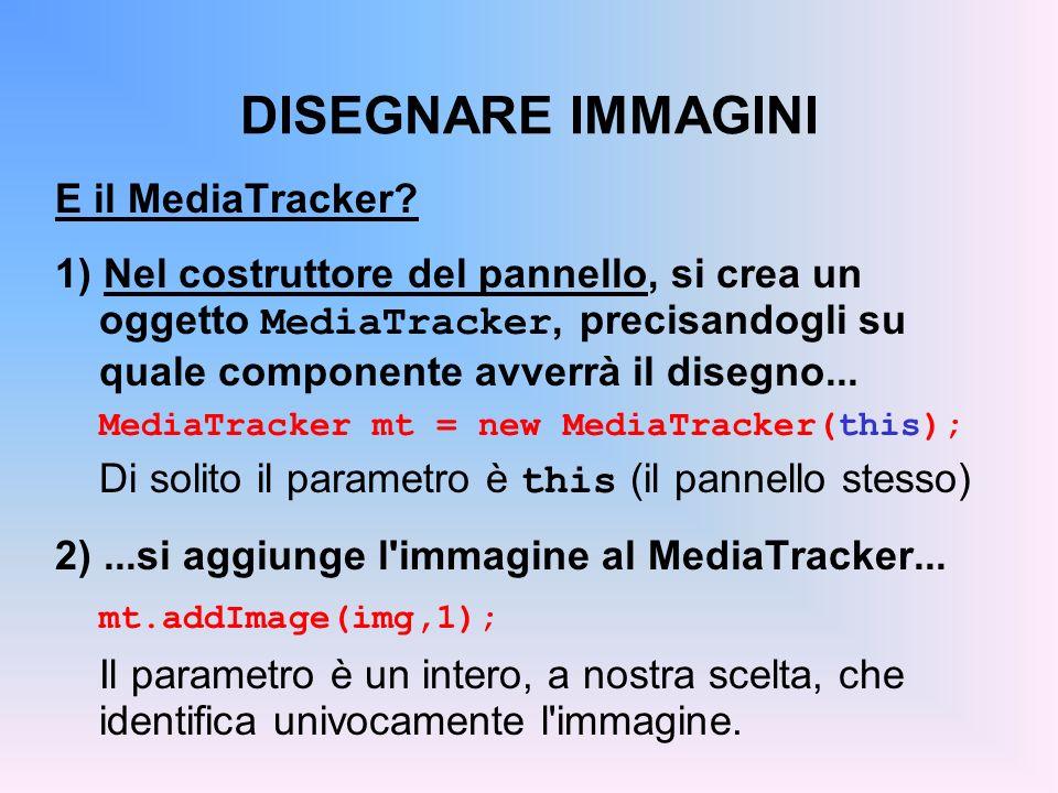 DISEGNARE IMMAGINI E il MediaTracker