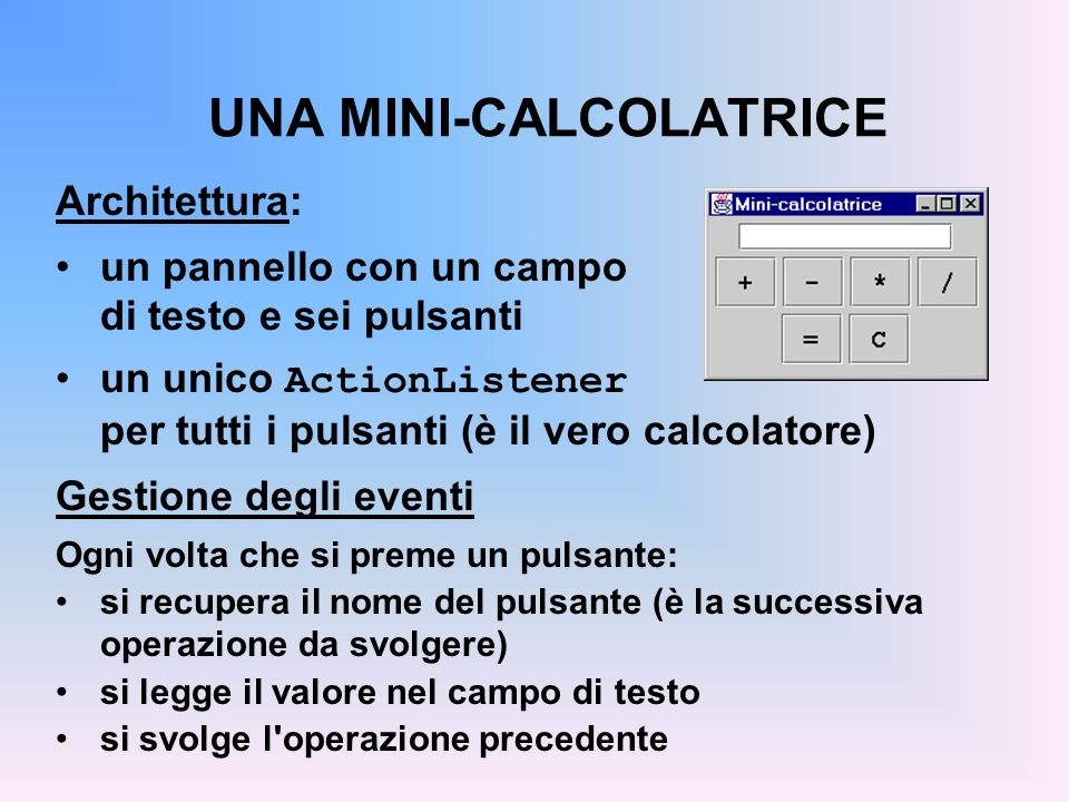 UNA MINI-CALCOLATRICE