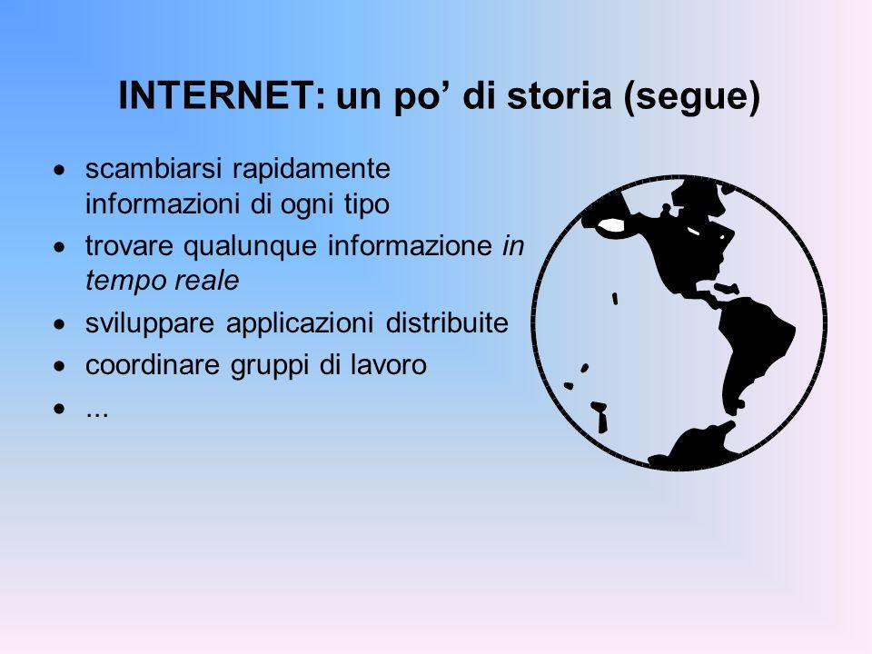 INTERNET: un po' di storia (segue)