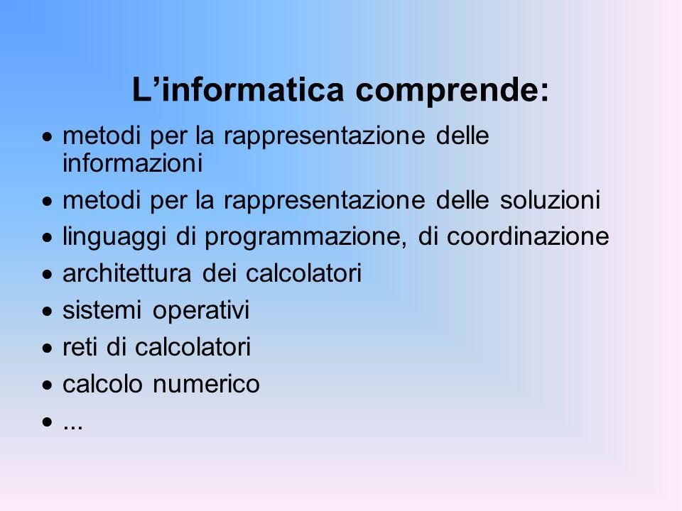 L'informatica comprende: