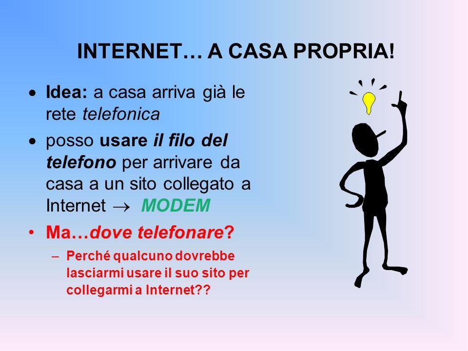 INTERNET… A CASA PROPRIA!