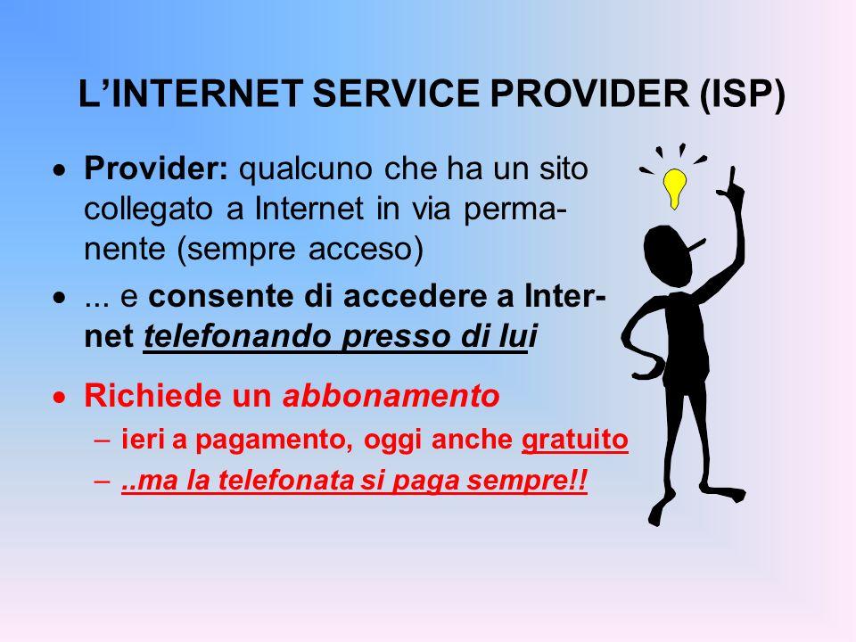 L'INTERNET SERVICE PROVIDER (ISP)