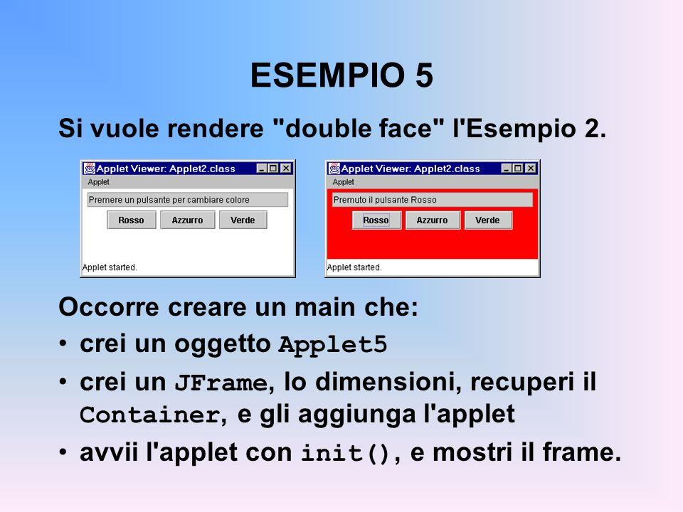 ESEMPIO 5 Si vuole rendere double face l Esempio 2.