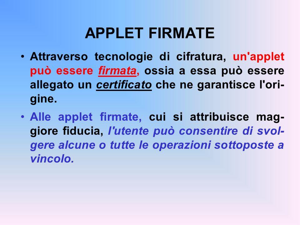 APPLET FIRMATE