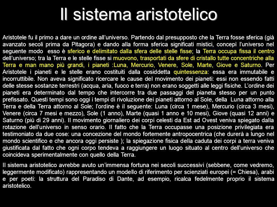 Il sistema aristotelico