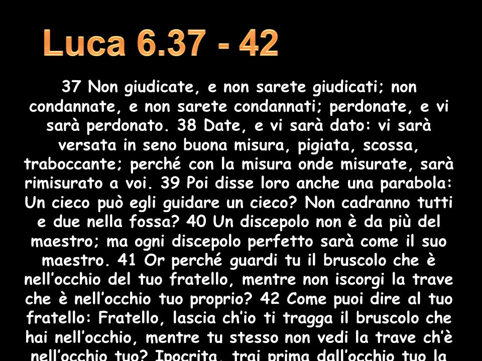 Luca 6.37 - 42