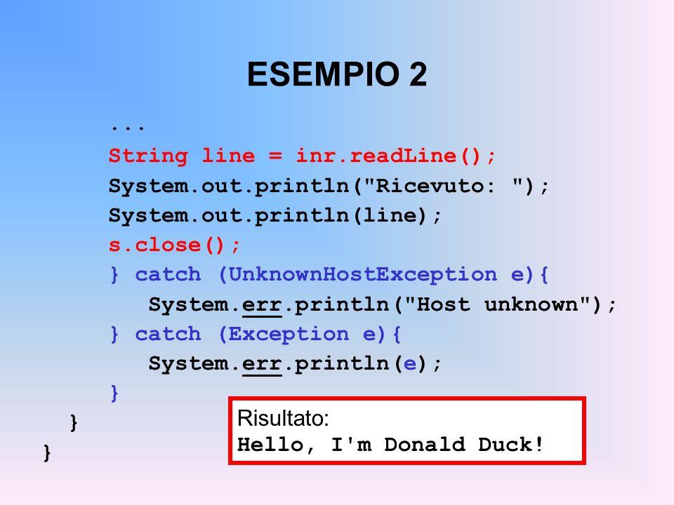ESEMPIO 2 ... String line = inr.readLine();