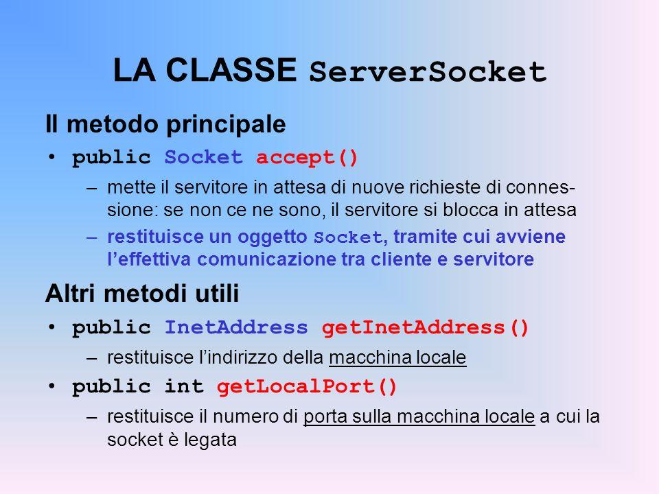 LA CLASSE ServerSocket
